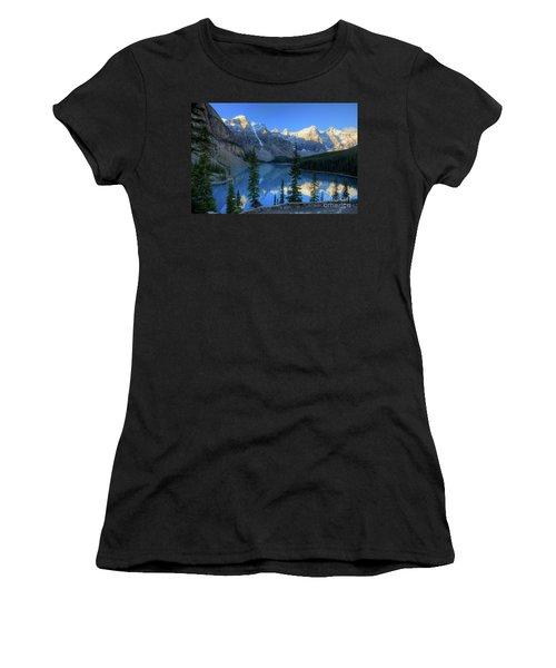 Moraine Lake Sunrise Blue Skies Women's T-Shirt (Athletic Fit)