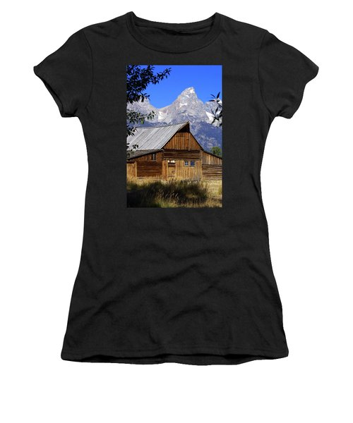 Mormon Row Barn  1 Women's T-Shirt (Athletic Fit)
