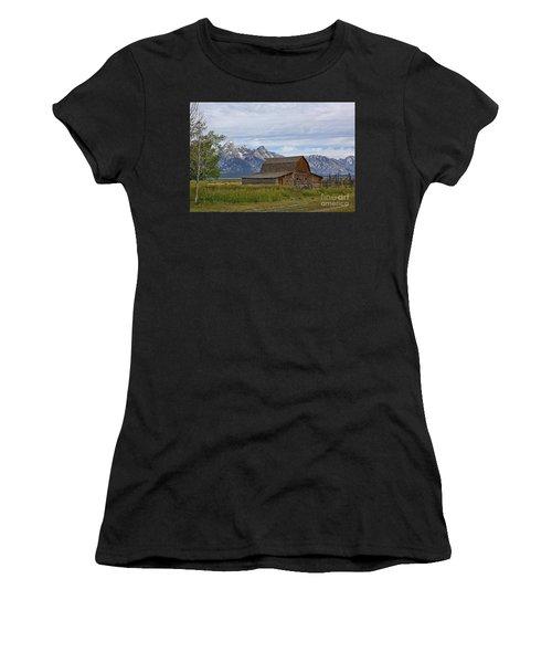 Mormon Row Barn And Grand Tetons Women's T-Shirt