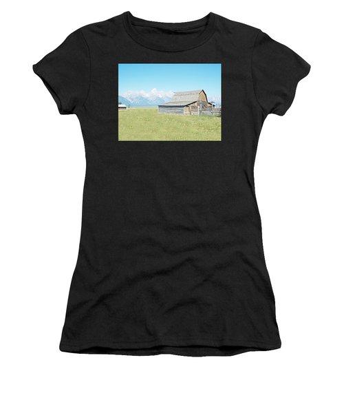 Mormon Row Barn - Grand Tetons Women's T-Shirt (Athletic Fit)