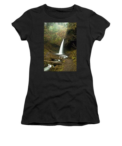 Morning At The Waterfall Women's T-Shirt