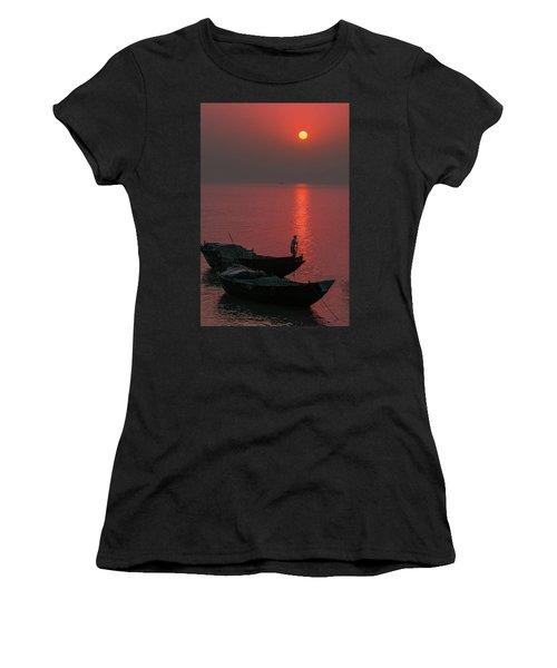 Morning Breaks Women's T-Shirt (Athletic Fit)