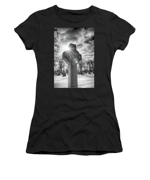 Women's T-Shirt (Athletic Fit) featuring the photograph Morning Cross by Guy Whiteley