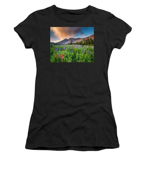 Morning Flowers In Little Cottonwood Canyon, Utah Women's T-Shirt