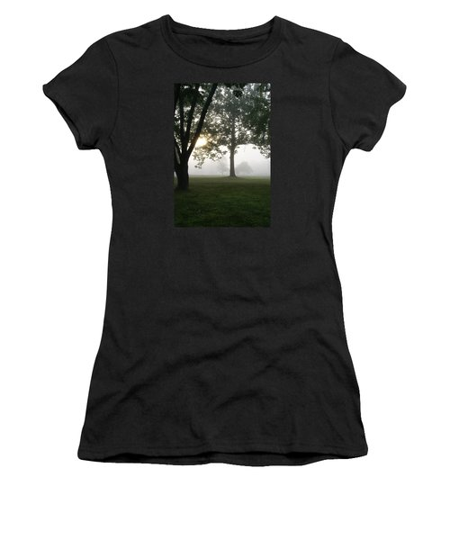 Women's T-Shirt (Junior Cut) featuring the photograph Morning Fog by Heidi Poulin