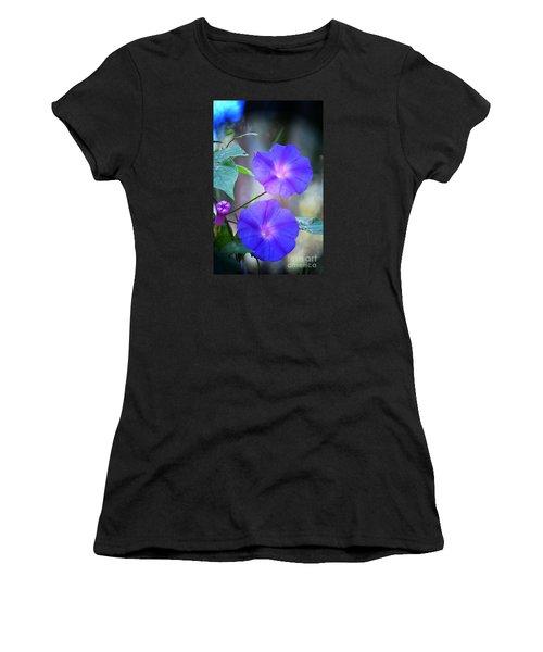 Morning Glory Women's T-Shirt (Junior Cut) by Kathy Baccari