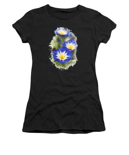 Morning Glory Watercolor Art Women's T-Shirt