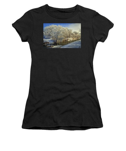 Morning Icing Along The Creek Women's T-Shirt