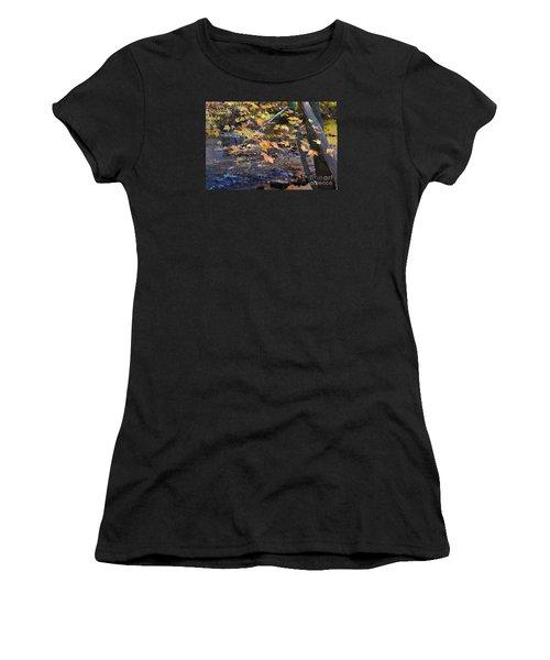 Morning Leaves Falls Park Pendleton Women's T-Shirt (Athletic Fit)