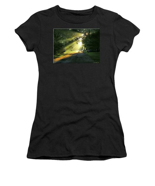 Women's T-Shirt (Junior Cut) featuring the photograph Morning Light by Brian Wallace
