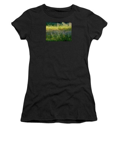 Morning Light On Grant Meadow Women's T-Shirt (Junior Cut) by Amelia Racca