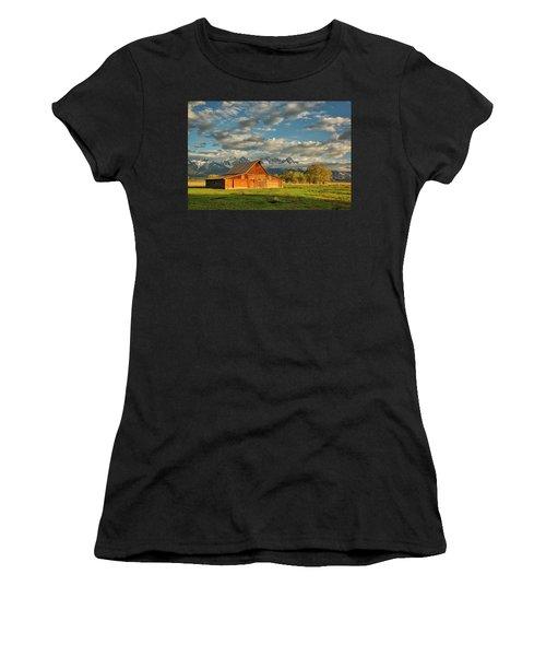 Morning Light On Moulton Barn #2 Women's T-Shirt (Athletic Fit)