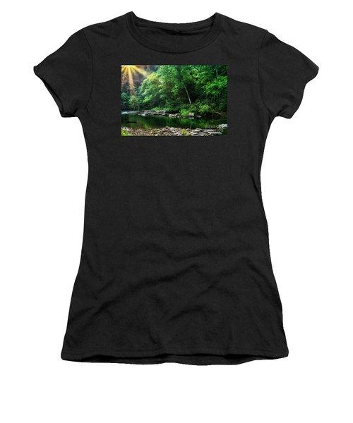 Morning Light On Williams River  Women's T-Shirt