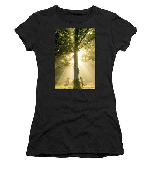 Morning Light Shining Down Women's T-Shirt (Athletic Fit)