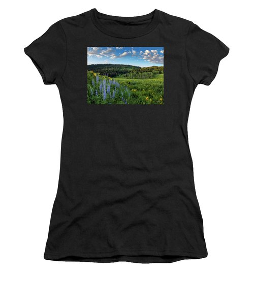 Morning Meadow Women's T-Shirt (Athletic Fit)