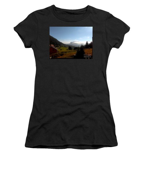 Morning Mist In The Magical Valley Women's T-Shirt (Athletic Fit)