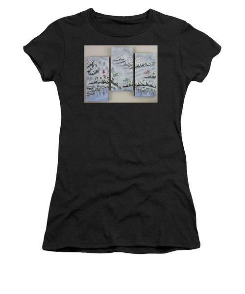 Morning Mist Triptych Women's T-Shirt