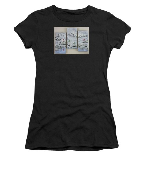 Morning Mist Triptych Women's T-Shirt