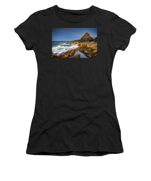 Women's T-Shirt (Athletic Fit) featuring the photograph Morning On Bailey Island by Rick Berk