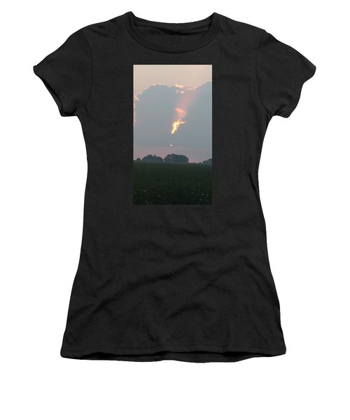 Morning Sky On Fire Women's T-Shirt (Athletic Fit)