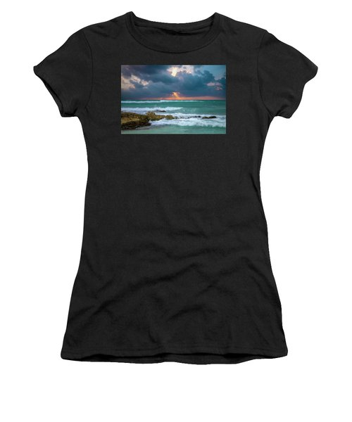 Women's T-Shirt featuring the photograph Morning Surf by Allin Sorenson