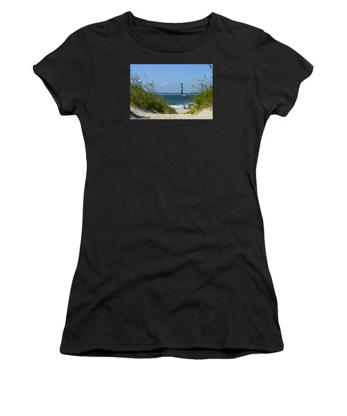Morris Island Lighthouse Walkway Women's T-Shirt (Athletic Fit)