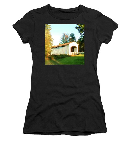 Mosby Creek Covered Bridge Women's T-Shirt (Athletic Fit)