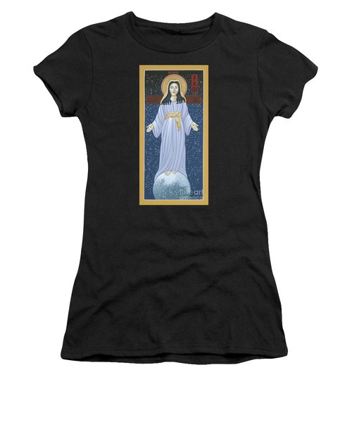 Women's T-Shirt (Athletic Fit) featuring the painting Mother Of God Of Akita- Our Lady Of The Snows 115 by William Hart McNichols