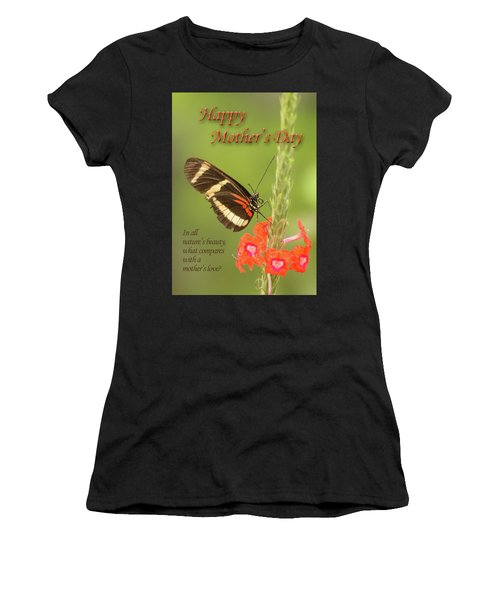 Mother's Day-butterfly Women's T-Shirt (Athletic Fit)