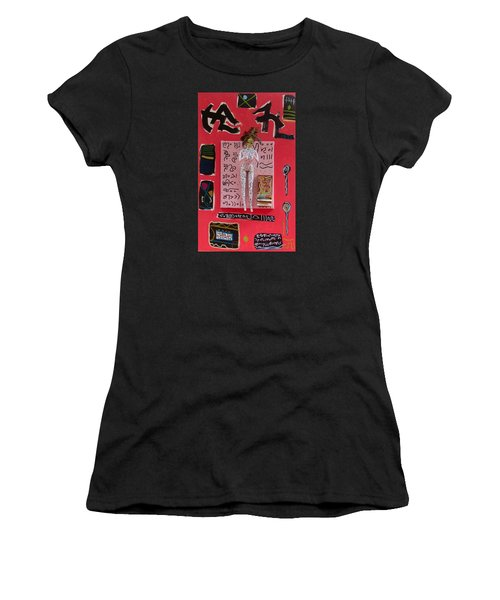 Women's T-Shirt (Junior Cut) featuring the painting Motherwort Herbal Tincture by Clarity Artists