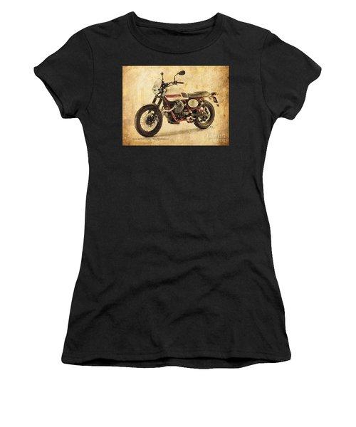 Moto Guzzi V7 II Stornello Vintage Poster Women's T-Shirt