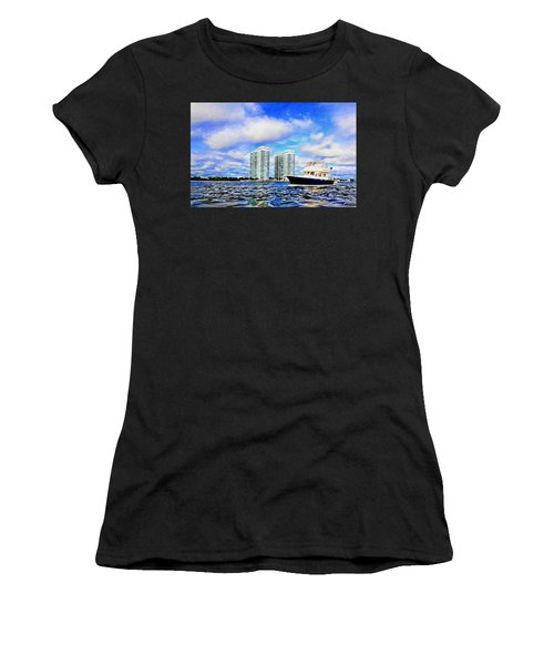 Motoring Past The Marina Grande Women's T-Shirt