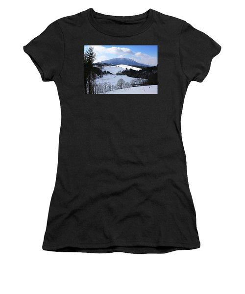 Mount Jefferson Winter Women's T-Shirt (Junior Cut) by Dale R Carlson