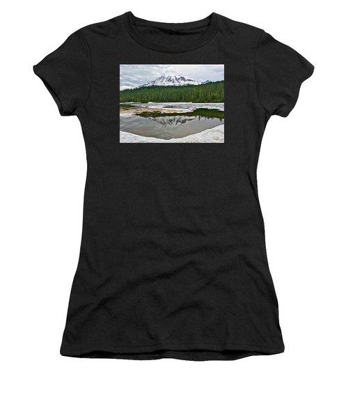 Mount Rainier From Reflection Lakes Women's T-Shirt