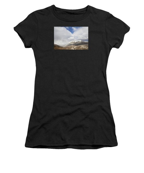 Mountain Clouds And Sun Women's T-Shirt (Athletic Fit)
