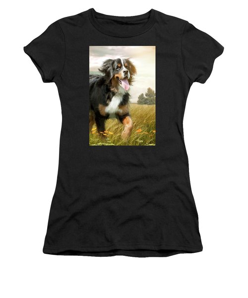 Mountain Dog Women's T-Shirt (Athletic Fit)