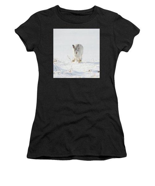 Mountain Hare Approaching Women's T-Shirt