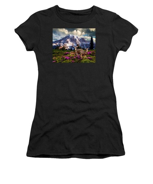 Mountain High Meadow Women's T-Shirt (Athletic Fit)