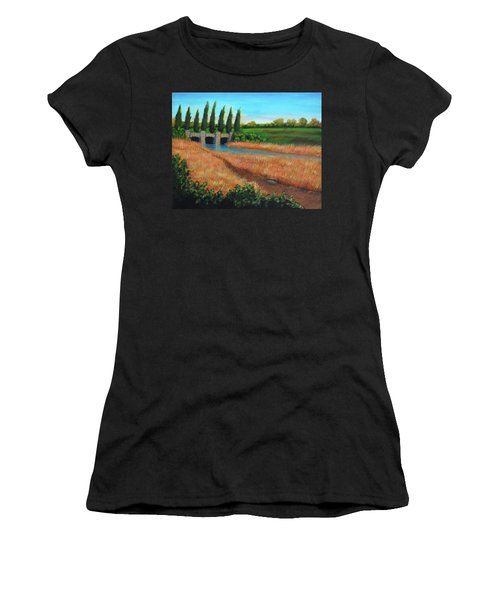 Mountain House In The Fall Women's T-Shirt (Athletic Fit)