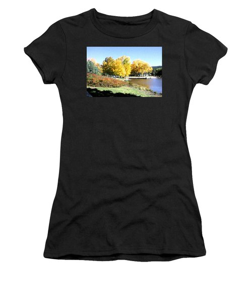 Mountain Lake Autumn Women's T-Shirt (Athletic Fit)