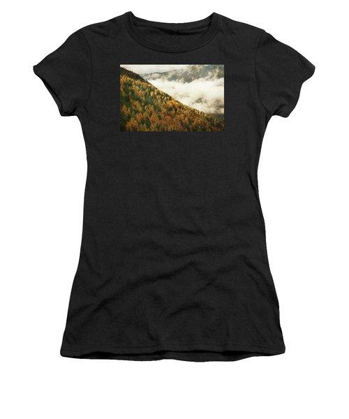 Mountain Landscape Women's T-Shirt (Athletic Fit)