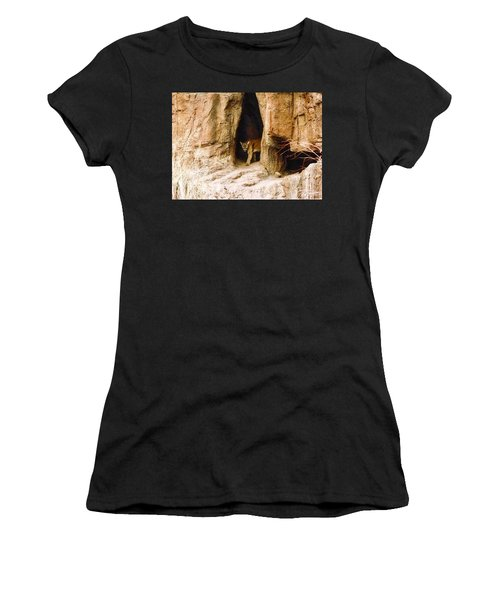 Mountain Lion In The Desert Women's T-Shirt