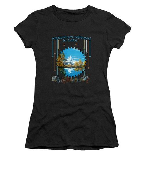 Mountain Matterhorn Lake View  Women's T-Shirt