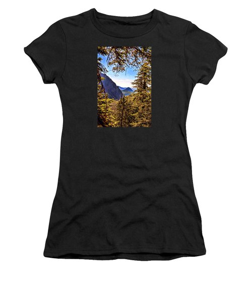 Mountain Views Women's T-Shirt (Athletic Fit)
