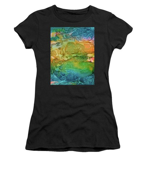Mountains, Trees, Icy Seas Women's T-Shirt