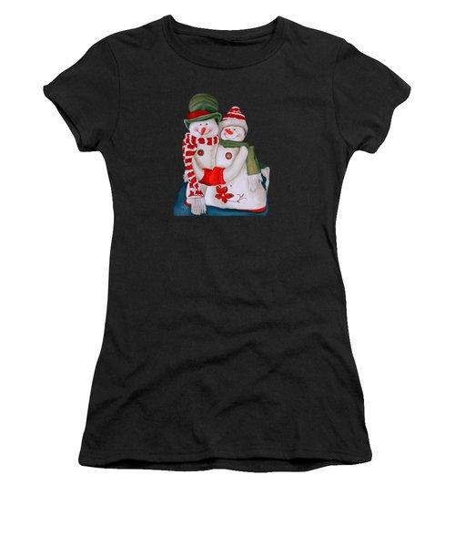 Mr. And Mrs. Snowman Women's T-Shirt