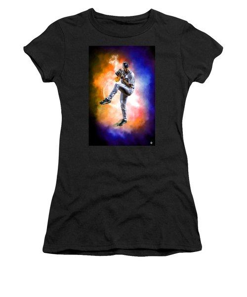 Mr. Justin Verlander Women's T-Shirt (Junior Cut) by Nicholas  Grunas