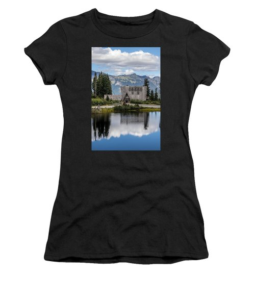 Mt Baker Lodge Reflecting In Picture Lake 3 Women's T-Shirt