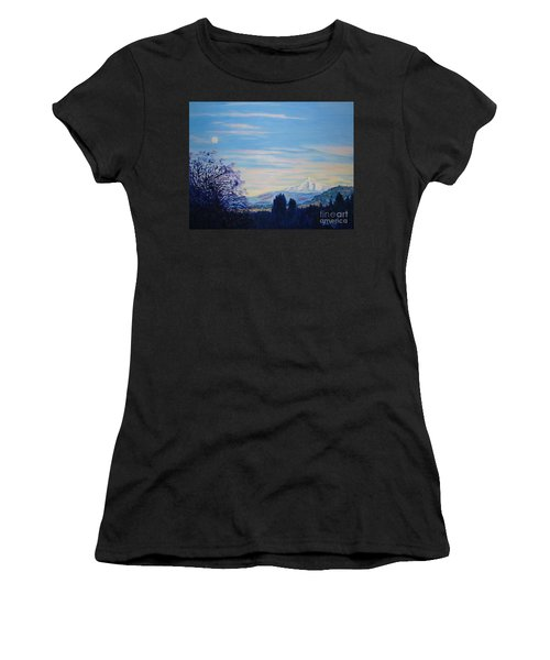 Mt Hood A View From Gresham Women's T-Shirt (Athletic Fit)