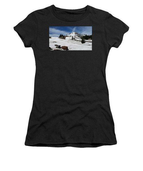 Mt. Hood In June Women's T-Shirt (Athletic Fit)